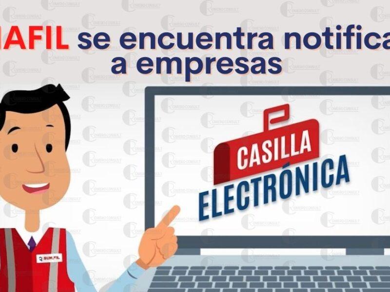 SUNAFIL esta notificando las casillas electrónicas de mas de 100,000 empresas
