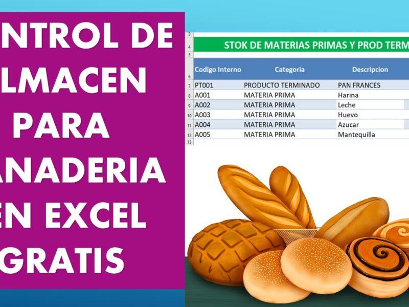 Macro Excel para llevar el control de almacén en una panadería  Descarga gratis