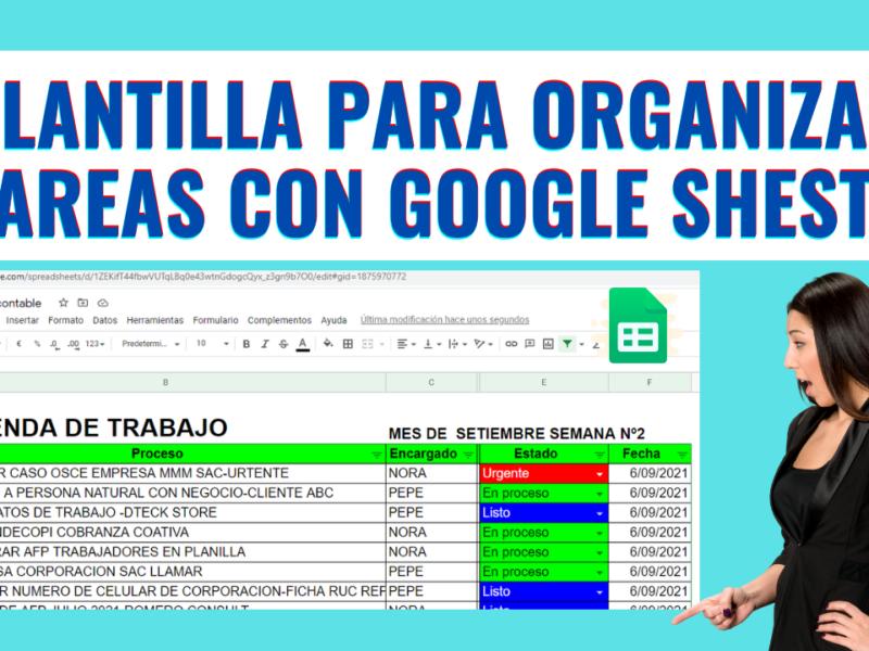 ¿Como organizar tareas y actividades con grupos de trabajo en Excel ONLINE-Google Sheets?